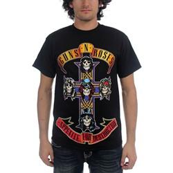 Guns N Roses - Cross Mens S/S T-Shirt In Black