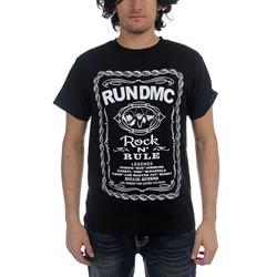Run DMC - Mens Rock and Rule Whiskey Label T-Shirt