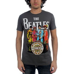 Beatles, The - Mens Sgt Pepper T-Shirt in Charcoal