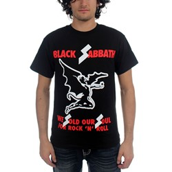 Black Sabbath - Mens Sold Our Soul T-Shirt in Black