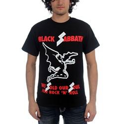 Black Sabbath - Mens Sold Our Soul T-Shirt in Black