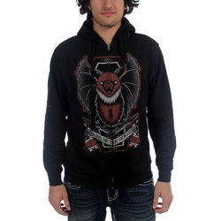 Bring Me The Horizon - Black Bat Zip Mens Hoodie In Black