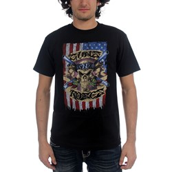 Guns N Roses - Skull Vintage Mens S/S T-Shirt In Black