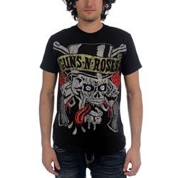 Guns N Roses - Tongue Skull Mens S/S T-Shirt In Black