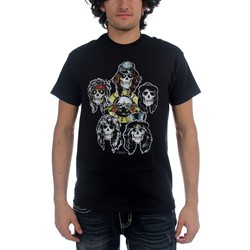 Guns N Roses - Heads Vintage Mens T-Shirt In Black