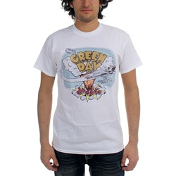 Green Day - Mens Dookie Vintage T-shirt in White