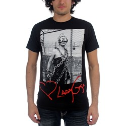 Lady Gaga Cigarettes Adult S/S T-Shirt In Black