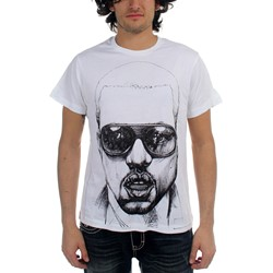 Kanye West - Sketch 40/1 Mens T-Shirt In White