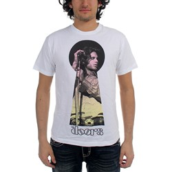 The Doors - Keyhole Jim Mens S/S T-Shirt In White