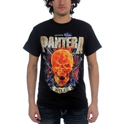 Pantera - Outlaw Skull Mens T-Shirt In Black
