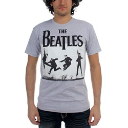 Beatles, The - Mens Jump Photo Heather T-Shirt