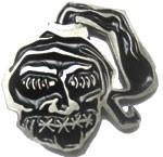 SHRUNKEN HEAD buckle (Black and Silver Grey)