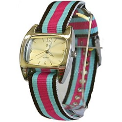 UrbanPUNK Classic Watch in Black/Blue/Pink