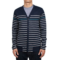 Xander Mens Fleece Cardigan in Jazz Blue by WeSC