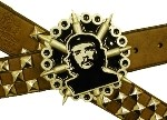 CHE WITH SPIKES BELT BUCKLE (Black and Silver Grey)