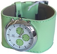 UrbanPUNK Rocker Watch in Lime Green