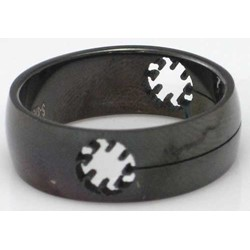 Blackline Suns Design Stainless Steel Ring by BodyPUNKS (RBS-030)