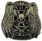 DEALER OF DEATH buckle (Black and White)