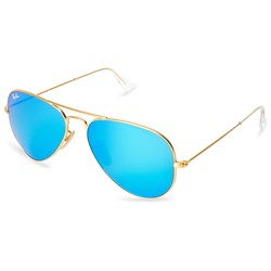 Ray-Ban - Mens Aviators Sunglasses In Gold, Eye Size: 58