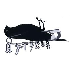 """Atticus Safety Pin Sticker in Black - 5"""" x 3"""""""