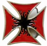 Iron Cross RED BLACK buckle