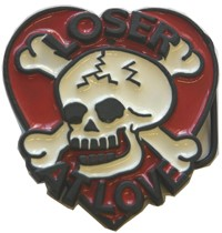 Loser At Love belt buckle (Black, Red, and White)
