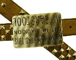 IF YOU CAN READ THIS PUT ME BACK ON MY BARSTOOL BELT BUCKLE (Silver Grey)