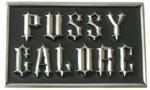 PUSSY GALORE buckle (Black and Silver Grey)