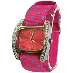 UrbanPUNK Polka Parade Watch in Pink