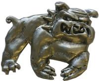 Full Bull Dog belt buckle (Silver Grey)