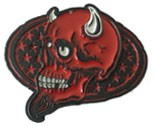 DEVIL POTRAIT buckle (Black, Red, and White)