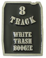 8-TRACK buckle (Black and Silver Grey)