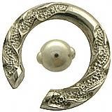 2g  925 Silver Tribal Spring Loaded Captive Ring w/ White Gold Plating