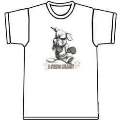 A Static Lullaby Boxing Bunny White T-shirt