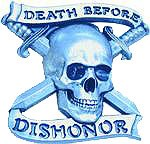 Crimson Ghost Death Before Dishonor buckle (Silver Grey)