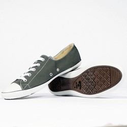 Converse Acoustic Light Womens Low Top Shoes in Charcoal/White