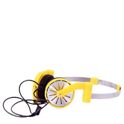Pick Up Stereo Headphones in Dendellon Yellow by WeSC