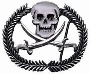 Skull Cross bones Wreath Belt Buckle
