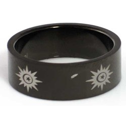 Blackline Sun Design Stainless Steel Ring by BodyPUNKS (RBS-014)