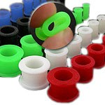 UV Silicone Plugs Available from 6g to 1 Inch - Available in Many Colors!