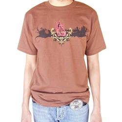 BodyPUNKS! SoCAL Los Angeles Skyline Brown Tee