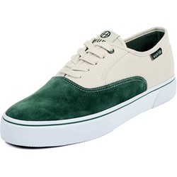 HUF - Mens Mateo Lowtop Shoes in Dark Green/Bone