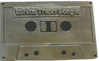White Trash Boogie Belt Buckle (Silver Grey)