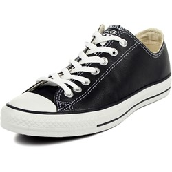 Converse Chuck Taylor Leather Oxford Low Top Shoes in Black