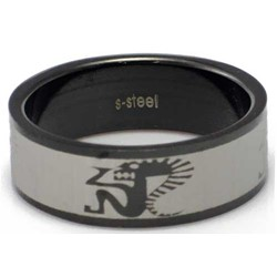 Blackline Tribal Man Design Stainless Steel Ring by BodyPUNKS (RBS-025)