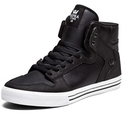Supra - Mens Vaider High Top Shoes in Black
