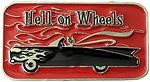 HELL ON WHEEL buckle (Red and Black)