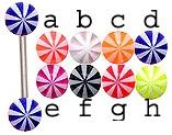 14g or 12g YOU PICK surgical Steel barbell with UV Beach Balls