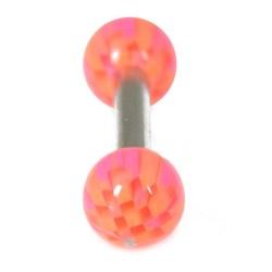 14g UV Checker Ball Straight Barbell