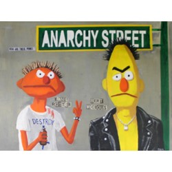 "Anarchy Street by Doug Welch Original Canvas Art, 48"" x 36"""